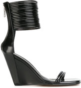 Rick Owens Mignon ankle-strap wedge sandals - women - Leather/rubber - 37