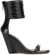 Rick Owens Mignon ankle-strap wedge sandals - women - Leather/rubber - 38