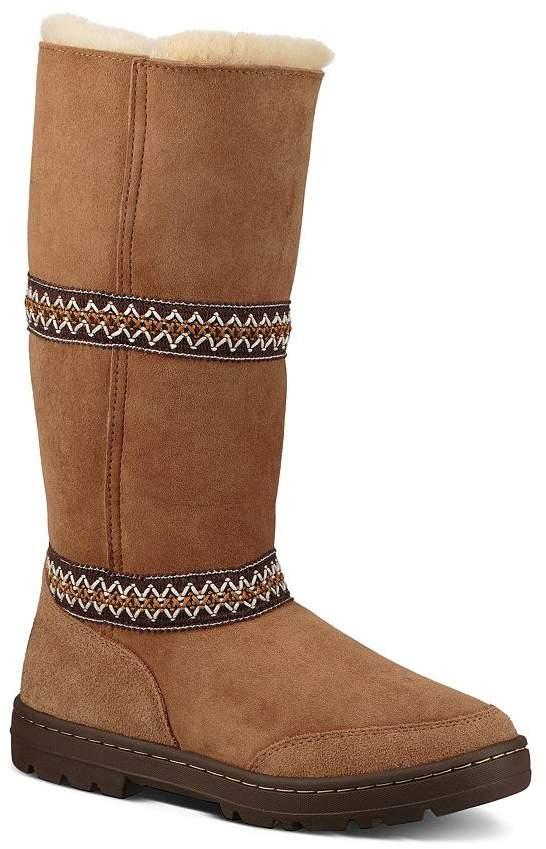4368d2fc019 Women's Original Sundance Round Toe Suede & Sheepskin Tall Boots