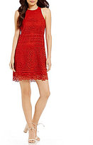 Lovers + Friends Caspian Scalloped Lace Sheath Dress