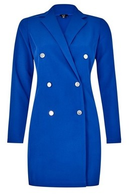 Dorothy Perkins Womens Lola Skye Cobalt Tuxedo Dress