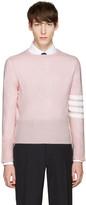 Thom Browne Pink Classic Crewneck Short Pullover
