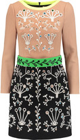 Peter Pilotto Cari embellished embroidered wool-crepe mini dress
