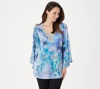 Susan Graver Artisan Printed Charmeuse Tunic