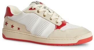Sandro Paris Retro Leather Sneakers