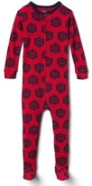 Fire truck footed sleep one-piece