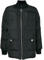 Versus puffer jacket - women - Cotton/Calf Leather/Polyamide/Goose Down - 38