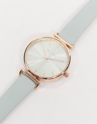 Bellfield watch in mint green with rose gold
