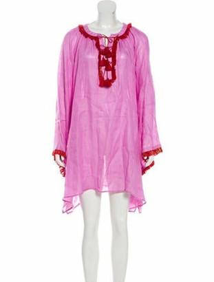 March 11 Fringe-Trimmed Mini Dress