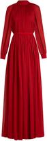 Maison Rabih Kayrouz Gathered silk-mousseline gown