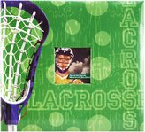 MCS MBI 12 by 12 Page, 13.2 X 12.5 Scrapbook Album-Lacrosse Theme