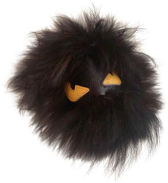 Fendi Bag Bug Black Fur Bag charms