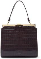 Mansur Gavriel Elegant Crocodile-embossed Leather Handbag - Womens - Dark Brown