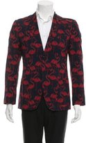 Marc Jacobs Flamingo Print Two-Button Blazer