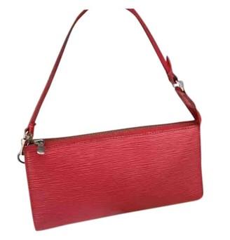 Louis Vuitton Pochette Accessoire Red Plastic Clutch bags