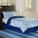 Lullaby Bedding Airplanes 4-Piece Queen Comforter Set in Blue/White