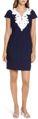 Eliza J Passementerie Trim Sheath Dress