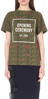 Opening Ceremony Dollar-print cotton-jersey t-shirt