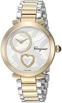Salvatore Ferragamo Women's 'Beating Heart' Swiss Quartz Stainless Steel Casual Watch, Color:Two Tone (Model: FE2080016)