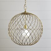 Crate & Barrel Hoyne Brass Pendant