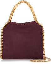 Stella McCartney The Falabella Mini Faux Brushed-leather Shoulder Bag - Burgundy