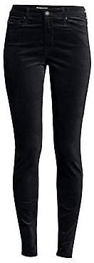 AG Jeans Women's Farrah High-Rise Velvet Skinny Pants
