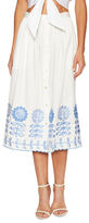 Temperley London Gilda Cotton Midi Skirt