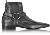 Cesare Paciotti Reed Black Nappa Leather Low Boot