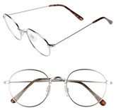 BP Women's 50Mm Round Fashion Glasses - Silver/ Clear