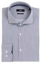 Hugo Boss Jery Slim Fit, Cotton Dress Striped Shirt 15Blue