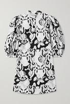 See by Chloe Printed Cotton-poplin Mini Dress