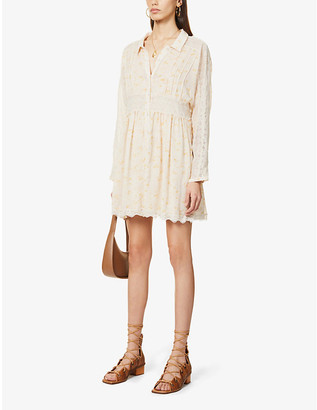 Free People Sheer Romance chiffon mini dress