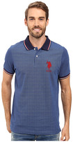 U.S. Polo Assn. Color Tipped Collar and Sleeve Cuff Pique Polo Shirt
