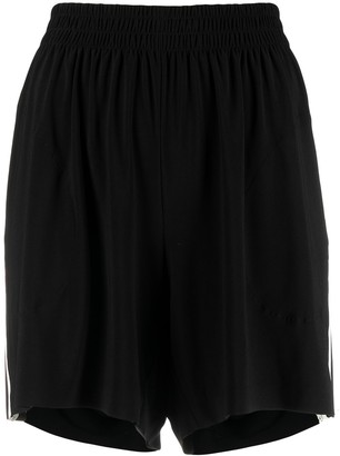 Norma Kamali Side-Stripe Detail Shorts