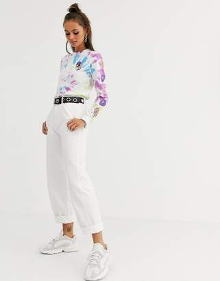 Santa Cruz Nolan wide leg chino trousers in white