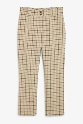 Monki Mid-waist kick flare trousers
