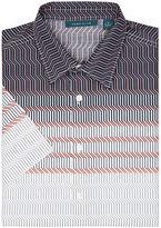 Perry Ellis Short Sleeve Zig-Zag Print Shirt