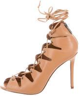 Schutz Leather Lace-Up Sandals