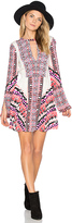 Free People Tegan Boarder Printed Mini Dress