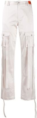 Heron Preston High-Rise Metallic-Sheen Trousers