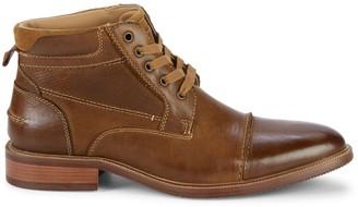 Steve Madden Morris Cap-Toe Leather Boots