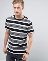 Converse Stripe T-shirt In Grey 10003393-a01