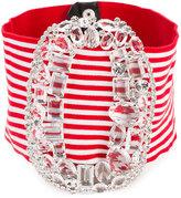 Alessandra Rich - maxi buckle belt - women - Cotton/Polyester/Spandex/Elastane - 80