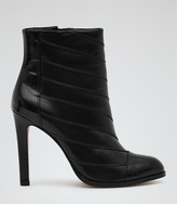 Reiss Nadine TEXTURED ANKLE BOOTS