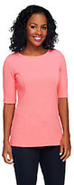 George Simonton Textured Knit Top with Cut-Out Back Detail