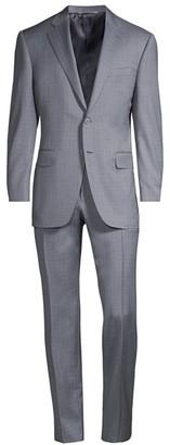 Canali Mini Plaid Italian Wool Suit