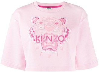 Kenzo embroidered Tiger cropped sweatshirt