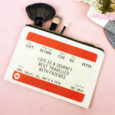 Of Life & Lemons Personalised Friends Train Ticket Make Up Bag