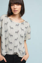 Anthropologie Printed Crew Neck Tee
