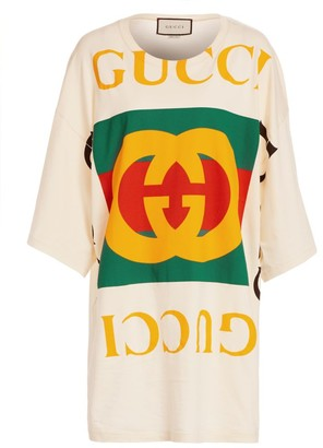 Gucci Oversized Logo Tee Beach Cover-Up